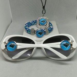 Accessories - Carolina Panthers Sunglasses Set